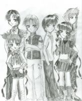 TMM guys- pencil drawing by Tamao