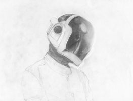 Guy Man in Pencil WIP by DeviantDolphinART