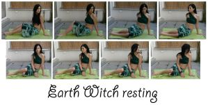 Earth Witch resting by syccas-stock