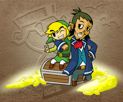 Link and Linebeck BFF by swordxdolphin