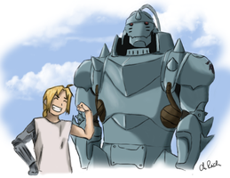 Fullmetal - Edward and Alphonse by 1Sahne
