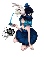 Alice and Rabbit Render by bbernkastel