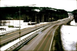 The Empty Road - or is it? by Linduzki