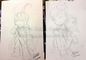 Indiana Comic Con Commissions - Sketches by ExiledChaos