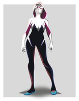 Gwen-Stacy-Spider-Woman-Tierra-65-By Shinra71 by SHINRA71