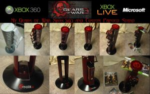 GOW3 Xbox 360 and Custom stand by 2006chaos