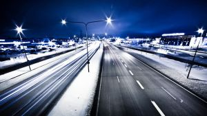 Highway at evening by RLPhotographs