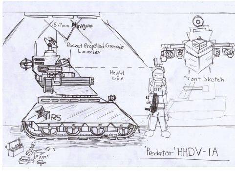 Predator HHDV-1A Attack Drone by Target21