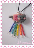 Nyan Cat Necklace ^_^ by J-Lover21
