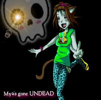 Mya's a Zombie Neko now... by 0-faeryfyre-0