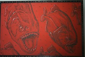 Evil Red Fishes by KelbelleStock