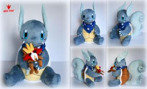 Pokemon - Wartortle OC Bubble - Plush by Lavim