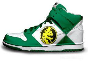 Green Power Ranger Nike Dunk by becauseimjay