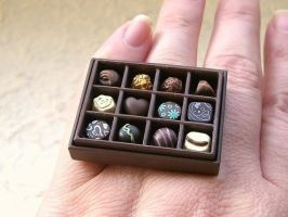 Kawaii Cute Japanese Ring Choc by souzoucreations