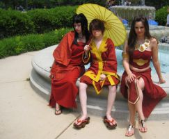 Mai, Zuko and Azula by AnimosityCosplay