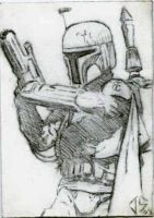 Sketch Card: Boba Fett by JasonShoemaker