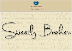 Sweetly Broken Font by friabrisa