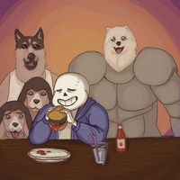 Average day at Grillby's by KMoonleaf