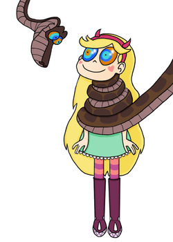 Star Butterfly and Kaa (Commission) by Sebald-of-Crete