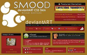 Smood dA skin - Khaki Edition by Easel