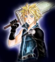 cloud from final fantasy vii by zelldinchit