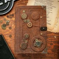 Steampunk grimoire by MilleCuirs
