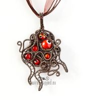 Red Shoggoth Pendant by ukapala