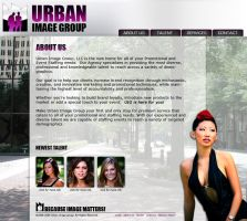 Model Agency Web Layout by SD-Designs