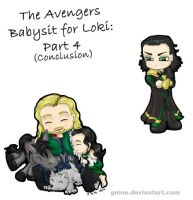 Avengers Babysit for Loki: Part 4 by Gnine