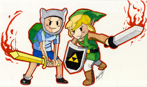 Finn and Link by rvh2099