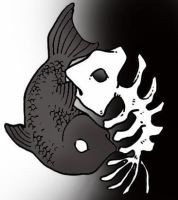 Yin Yang Fish by pixelatedpoison