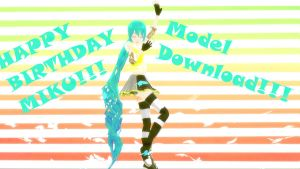 [MMD] Happy Birthday Miku! by FB-C