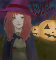 Pumpkin Witch by drowning-in-sass