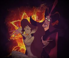 Meg and Jafar by identity511