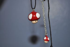 Mushroom Necklace by Angelpedia