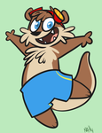 Oceanotter Badge by La-Frugele