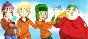 South Park - Main Four by Yhomir