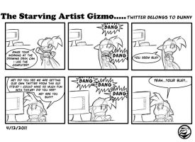 The starving Artist Gizmo 7 by culdesackidz