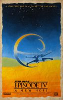 Star Wars Episode IV A New Hope Poster by DanieleRedRossini
