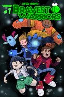 BRAVEST WARRIORS Comic Book Cover by RADMANRB