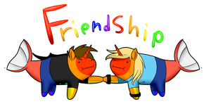 Friendship *WITH SPEEDPAINT* by 11IceDragon11