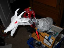 Full-Body Dragon, Incomplete 5, with Bionicle by RC-Iname