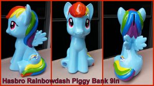 Hasbro Rainbowdash Piggy Bank 9in by Vesperwolfy87