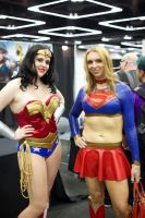 Wonderwoman and Latex Supergirl by lumonic