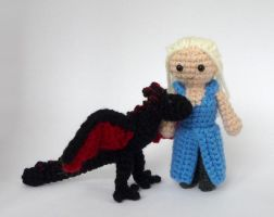 Daenerys and Drogon by LunasCrafts
