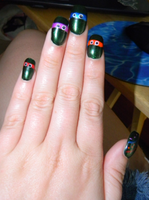 TMNT nails by SailorDerp