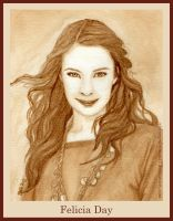 Felicia Day - Coffee Portrait by strryeyedreamr27