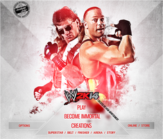 WWE 2K14 CUSTOM START MENU#1 by T1beeties