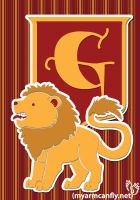 The Gryffindor Lion by myarmcanfly
