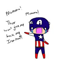 CAPTAIN AMERICAAAAAAA by TiddlerTwiddles